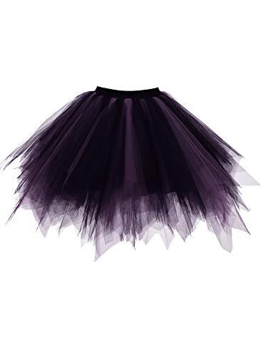 emondora Retro Short Tutu Skirt Petticoat Adult
