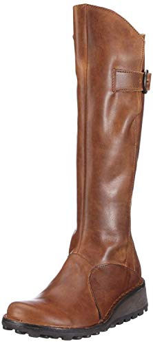 #Fly London MOL 2 Camel Leather Womens Knee Hi Boots