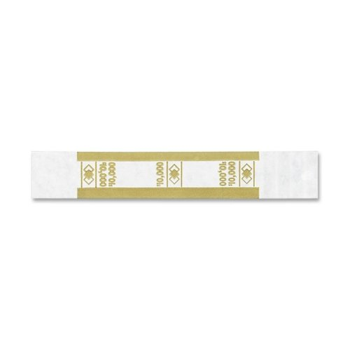 PM Company Self-Adhesive Currency Straps, Mustard, 10,000 in $100 Bills, 1000 Bands/Pack