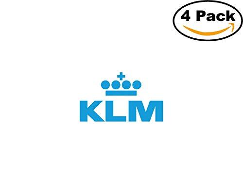 Transport Klm Logo 4 Stickers 4X4 Inches Car Bumper Window Sticker Decal