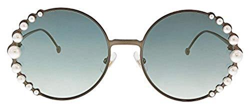 Sunglasses Fendi Ff 295 /S 0J7D Semi Matte Bronze / EZ green silver mirror lens