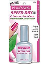 Nutra Nail Top Coat - Nutra Nail Speed Dry 30 Second Top Coat with Green Tea Antioxidants 0.50 oz (Pack of 2)