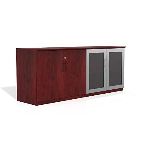Safco Products MVLCLMH Medina Cabinet, Mahogany