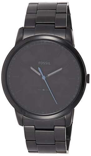Fossil Men's The Minimalist Quartz Stainless Steel Dress Watch, Color Black (Model: FS5308)