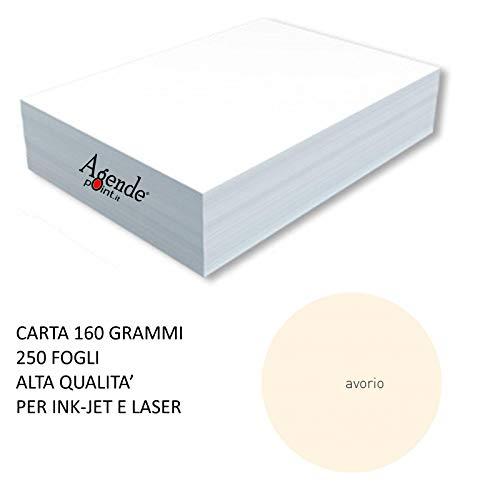 250ff Risma carta colorata AVORIO A4 160gr monocolore alta qualit/à per laser ed inkjet