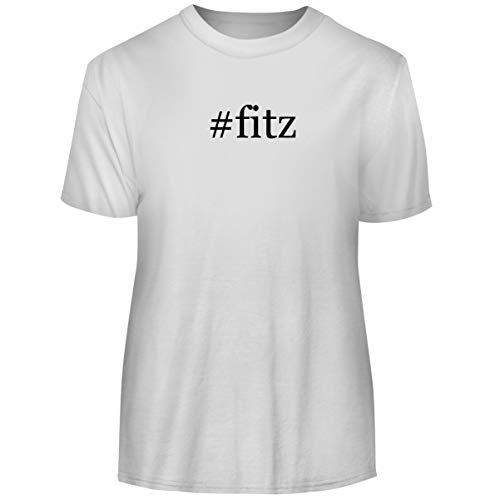 One Legging it Around #Fitz - Hashtag Men's Funny Soft Adult Tee T-Shirt, White, XXX-Large