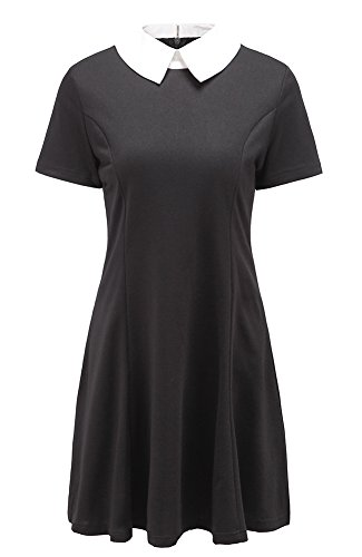 Black dress peter pan collar 5t