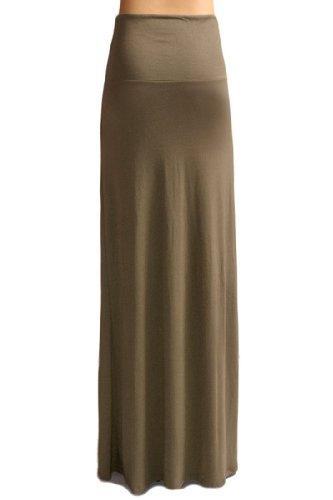 Azules Women's Rayon Span Maxi Skirt