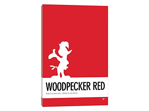 Canvas Wall Art - Minimal Colorcode Poster Woody Woodpecker - 18