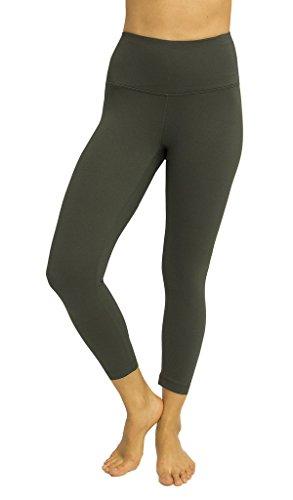 90 Degree By Reflex - High Waist Tummy Control Shapewear - Power Flex Capri - Olive - Medium