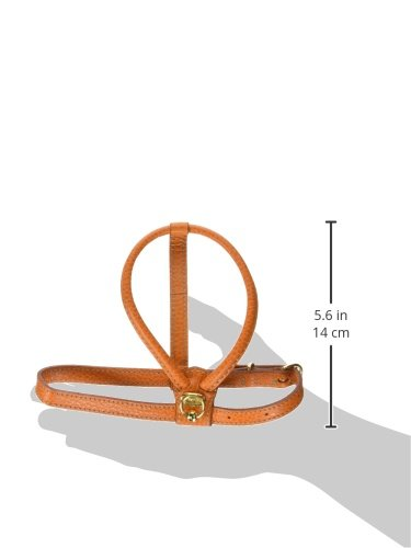 Petego La Cinopelca Tubular Calfskin Dog Harness with Pebble Grain Finish, Orange Small by Petego (Image #1)
