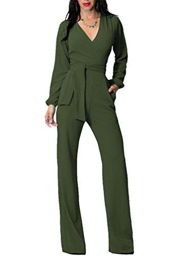 Verde Lungo Vestito Elegante Pantaloni Abito Jumpsuit Cerimonia Donna Da Tuta zE6PqwaWz