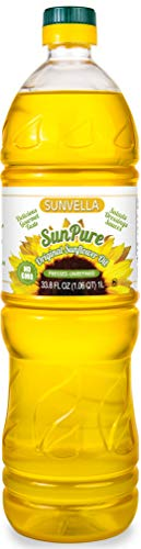 SUNVELLA SunPure Non-GMO Original Sunflower Oil, Pressed-Unrefined (Virgin) 33.8 FL OZ (1.0L)