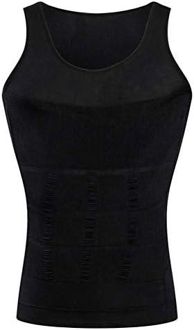 メンズボディシェイパー圧縮ベストスリミングガードルコルセットMusclealive男性弾性ボディニッパー (Color : Black, Size : XXL)
