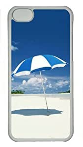 Blue Beach Scenery 002 Iphone 6 plus 5.5'' Hard Shell with Transparent Edges Cover Case by Lilyshouse