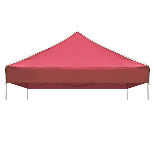 - Strong Camel Ez pop Up Canopy Replacement Top Instant 10'X10' Gazebo EZ Canopy Cover Patio Pavilion Sunshade plyester-Burgundy Color