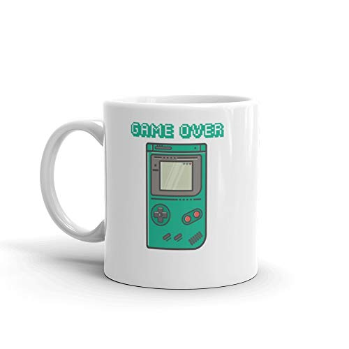 Gameover in GameBoy Console 11 Oz White Ceramic from bargainmugs