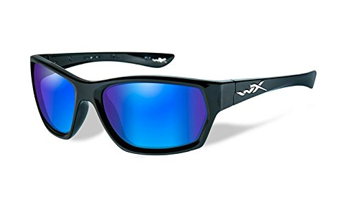 Wiley X Moxy Polarized Sunglasses Black Frame Blue Lens - Polarized Sunglasses X Wiley