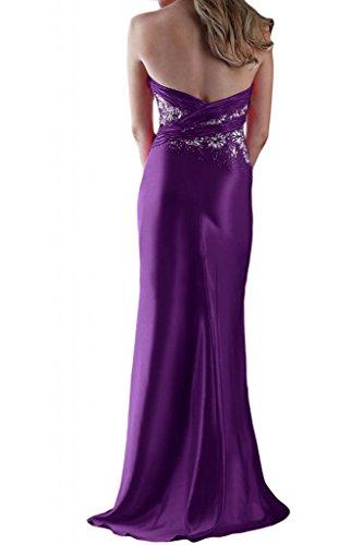 Toscana sposa stanotte mode general-case kraftool Satin stanotte vestiti a forma di cuore per Party Ball Bete vestimento viola 46