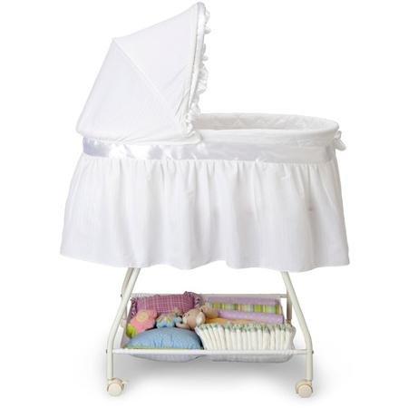 Delta Children's Products Sweet Beginnings Bassinet, White (White)