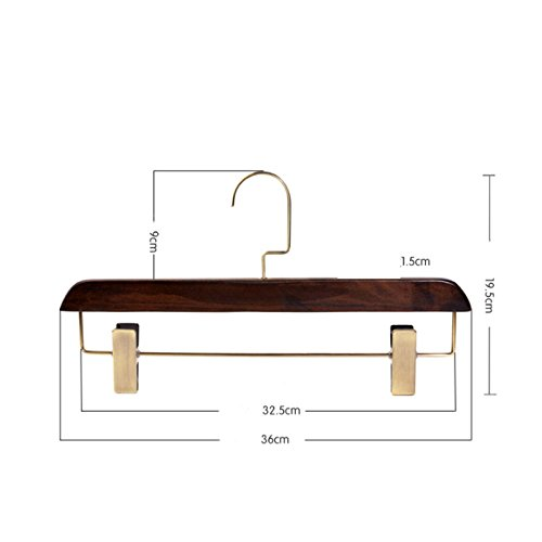FORWIN- Clothes Hanger Vintage Solid Wood Hotel Clothing Shop Trousers Rack Trousers Hanger 2 Packs hanger