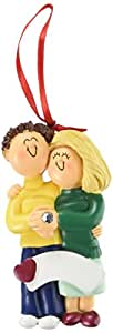 Ornament Central OC-039-MBR-FBL Male/Female Blonde Engaged Couple Figurine