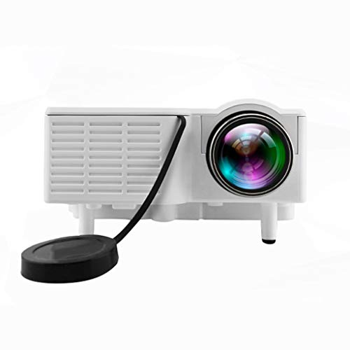 QTT Mini Projector, Home LED Mini Mini Portable LED HD Projector (White) from QTT