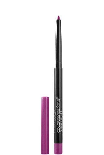 Maybelline Makeup Color Sensational Shaping Lip Liner, Wild Violets, Violet Lip Liner, 0.01 oz
