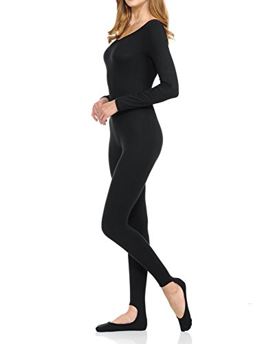 Ladybug Women Catsuit Tank Long Sleeve Yoga One Piece Footed Bodysuit Jumpsuit (Medium, (One Piece Catsuit)