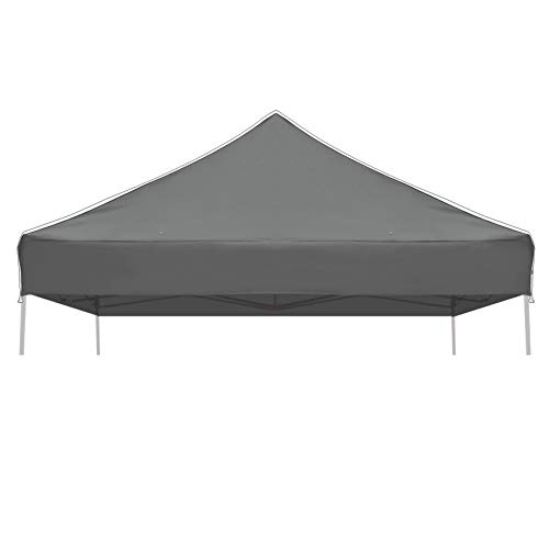 Strong Camel Ez pop Up Canopy Replacement Top Instant 10'X10' Gazebo EZ Canopy Cover Patio Pavilion Sunshade Polyester (Grey) (Canopy Replacement Plan)