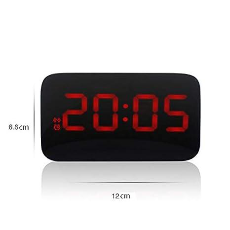 Reloj despertador LED Reloj digital Lectura fácil Pantalla LED Noche Luz de fondo Reloj de mesa Reloj de mesa Carga USB para la oficina en casa Dormitorio ...