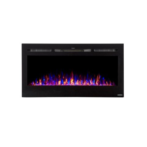 Touchstone 80027 Sideline In-Wall Recessed Electric Fireplace, 40 Inch Wide, 3 Colors, 1500/750 Watt Heater (Black)… (Residential Ceiling Heaters)