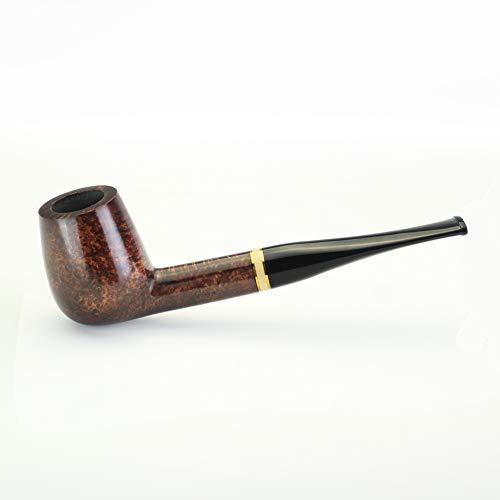 FULUSHOU Mediterranean Briar Wood Tobacco Pipe, Freestyle Tobacco Pipe,Dad Gift