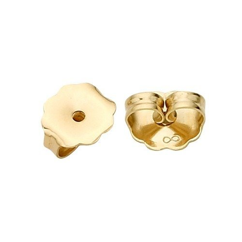 PARIKHS Pair of Friction Earring Backs(Heavy Ear nuts)Replacement back-findings in 14k Yellow Gold 14k Yellow Gold Replacement