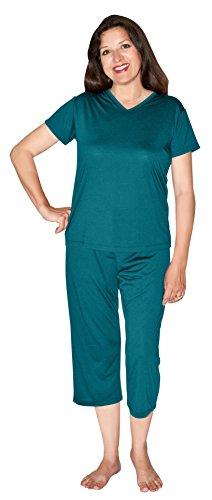 Cool-jams New Moisture Wicking Capri Pajama Set (S-2X) free shipping