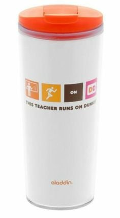 Dunkin Donuts Aladdin Tumbler, This Teacher Runs on Dunkin', 16-oz