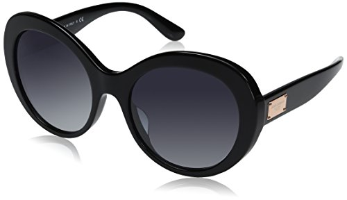 Dolce-Gabbana-Womens-Acetate-Woman-Round-Sunglasses-Black-57-mm