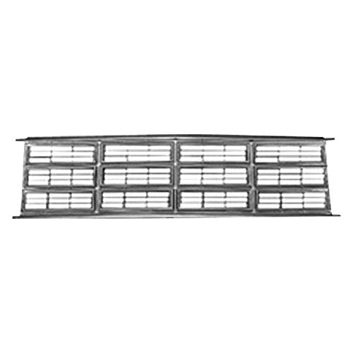 Value For Dodge Van 86-93 Grille Grill Chrome/Black/Silver OE Quality Replacement