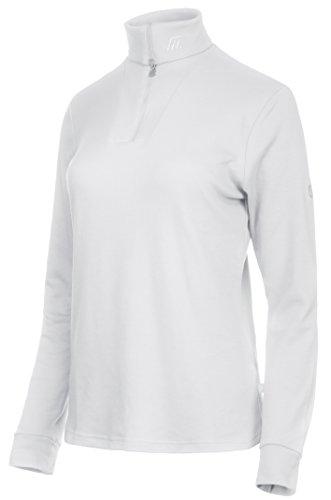 Medico Damen Ski Shirt, 100% Baumwolle, Langarm, Reißverschluss