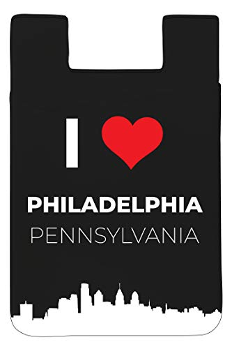 Philadelphia Pennsylvania Historical I Love Philly Souvenir Adhesive Card Holder Wallet for Smartphone ()