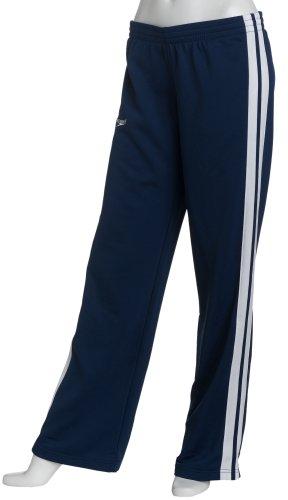 2007 Splice - Speedo Women's Polyester Tech Twill Super Pro Solid Splice Warm-Up Pant, Navy, Medium