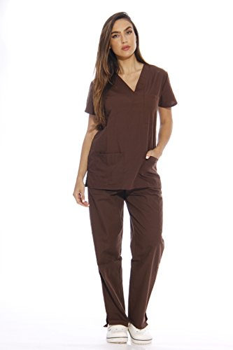 - Just Love 22256V-XL Chocolate Women's Scrub Sets/Medical Scrubs/Nursing Scrubs