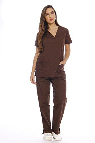 Just Love 22256V-XS Chocolate Women's Scrub Sets/Medical Scrubs/Nursing Scrubs