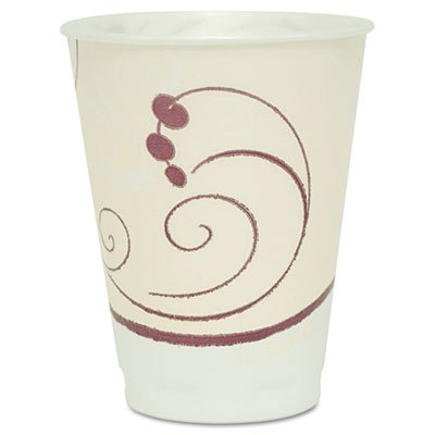 Symphony Design Trophy Foam Hot/cold Drink Cups, 12oz, Beige, 100/pack