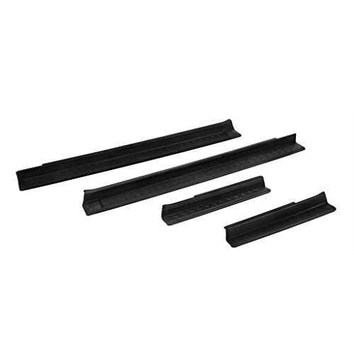 Rear Door Sill (DEDC Jeep Entry Guards Set Door Entry Sill Protectors For 2007-2016 Jeep Wrangler Black Front and)