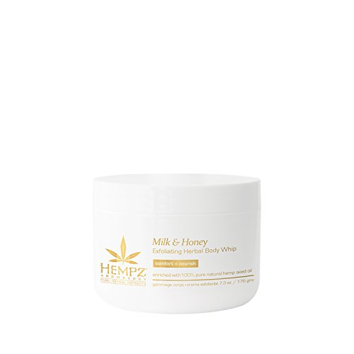 Hempz Milk and Honey Exfoliating Herbal Body Whip, 7.3 Ounce