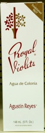 Royal Violets By Agustin Reyes 5 Oz Agua De Colonia Eau De Cologne Glass Bottle