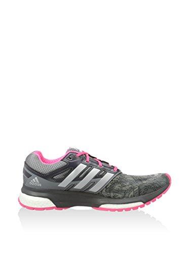 adidas Laufschuhe Response Boost Techfit Woman Graph grau/rosa EU 39 1/3 (UK 6