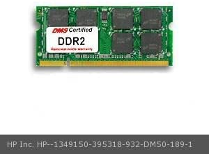395318-932 Pavilion dv9418us 1GB Samsung Original Memory 200 Pin DDR2-667 PC2-5300 128x64 CL5 1.8V SODIMM DMS Data Memory Systems Replacement for HP Inc DMS