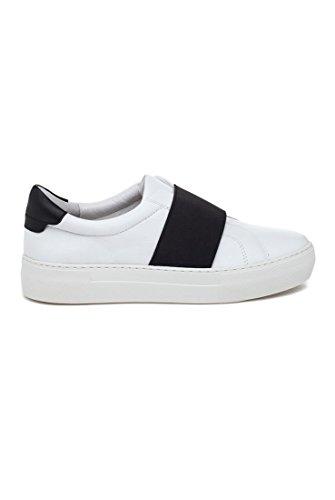 J Slides JSlides - Adorn Leather Sneakers - White Black White ksKuA